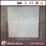 Natura Strip Tile Pure White Marble Mosaic per Bathroom Wall