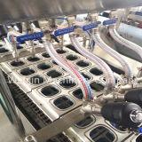 Remplissage de cuvette et machine automatiques de cachetage pour le lait/jus/yaourt/gelée