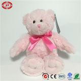 Zachte Gevulde Zittende Katoenen van het Stuk speelgoed Roze pp van de Pluche Teddybeer