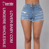 Zerrissene blaue Frauen-Denim-Jeans 2016 (L450-2)