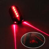 5 LED 2 laser bicicleta luz logotipo laser inteligente lâmpada de segurança 3 cores traseira bicicleta luz traseira
