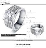 Homens de bronze do Zircon do embutimento da faixa do anel dos homens que Wedding a jóia (CRI0403-B)