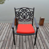 屋外の鋳造アルミの庭の家具のテラスの一定の金属の表および椅子