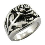 Un anillo más fino de la fregona del metal del cráneo de acero del negro
