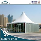 10m x 10m Glass di lusso Window Pagoda Tents con Roof Linings e Curtains