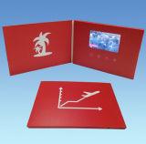 Regalo promozionale cartolina d'auguri dello schermo dell'affissione a cristalli liquidi da 4.3 pollici video