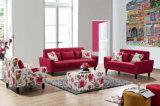 Sofá elegante secional da tela