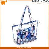 Farbigen Form-stilvolle Strand-Handtaschen-versiegelbaren Plastikschulter-Beutel löschen