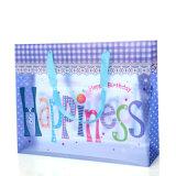 Sac en plastique de cadeau de nouvelle conception faite sur commande d'offre d'usine avec la poignée d'agrafe (sac à provisions imprimé)