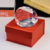 Unbelegtes Clear Crystal Paperweight für Office Decoration