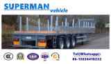 Remorque à plat de tri d'essieu camion de cargaison avec le pieu pour le transporteur en bois