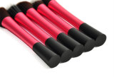 Шкафута пробки 5 PCS Rose щетка учредительства ручки красного длиннего алюминиевого малого милого специальная