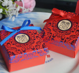 주문을 받아서 만들어진 Hot Stamping Wedding Gift Box 또는 Candy Box/Chocolate Box