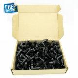 """Het vrije Verschepen! ! Het Pakket van de Uitverkoop 100PCS van Zwarte Elleboog Ogo NPT 1/4 """" * 3/8 """" Staaf van de Buis"""