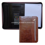 Brown Zipped Best Padfolios Leather con Side Pocket