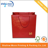Gedrucktes Logo und China Red Handle Bags