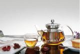 Copo de chá dobro do vidro de Pyrex do punho da parede