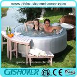 De Ton van het KUUROORD van de Inflatable Draaikolk van de Familie (Zilver pH050011)