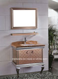 Mobilia luminosa della stanza da bagno dell'acciaio inossidabile di colori