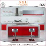 Мебель кухни магазина шкафа конструкции острова красного цвета N&L