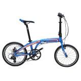 """20 da """" bicicleta de dobramento de pouco peso da liga de alumínio da velocidade polegada 8"""