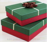 Rectángulo de regalo de papel de lujo del papel de la cartulina de la venta caliente para empaquetar