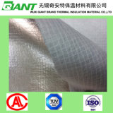 Tissu enduit de surface de fibre de verre de Soomth de papier d'aluminium