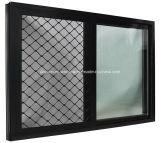Cuarto de baño Windows de desplazamiento de la aleación de aluminio/de aluminio de la doble vidriera