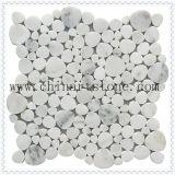 중국 백색 Carrara 팬 /Round 대리석 화강암 돌 패턴 모자이크