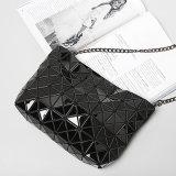Pu van uitstekende kwaliteit Crossbody doet de Zwarte Ruitvormige Geometrische Handtassen van Vrouwen in zakken (a060-4)