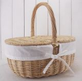 (BC-ST1087) Highquality Handmade Willow Pinic Basket con Eco-Friendly
