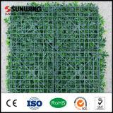 Загородка завода PVC украшения сада покрытая зеленая искусственная