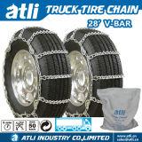 Corrente de pneu do caminhão da V-Barra do aço de carbono de Atli 28s