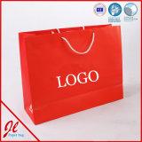 Bolsos de compras de papel modificados para requisitos particulares de las bolsas de papel de lujo de las compras