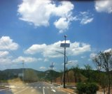 가로등 (200W-5kw)를 위한 200W 수직 바람 태양 혼성 시스템