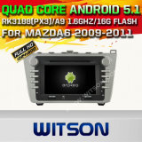 Carro DVD GPS do Android 5.1 de Witson para Mazda6 2009-2011 (A5771)