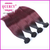 Melhor de toque macio que vende a trama brasileira do cabelo da cor de Omber do cabelo de Remy da qualidade superior de cabelo humano, cabelo reto de Remy do Virgin do ser humano de 100%