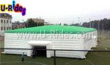 De reusachtige Opblaasbare Tent van de Kubus met Groen Dak