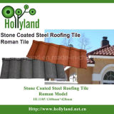 Mattonelle di tetto di metallo con la pietra ricoperta (mattonelle romane)