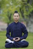 Dos esportes mornos grossos dobro masculinos de linho do Taoism do outono e do inverno roupa Relaxed dos exercícios