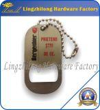 Изготовленный на заказ бирка собаки Keychain консервооткрывателя бутылки металла