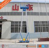 Mobile hydraulische einzelner u. doppelter Mast-Aluminiumaufzug-Arbeitsbühne
