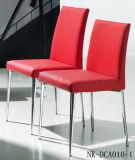 Cadeira de jantar branca elegante de couro simples moderna do aço inoxidável (NK-DCA001-1)