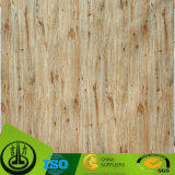 Papel decorativo da grão de madeira com teste padrão atraente