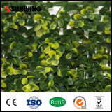 庭のためのPVC Coated Yellow Artificial Foliage Leaf Wall Fence
