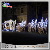 Outdoor 3D LED Reindeer com Sleigh Christmas Decoration Light