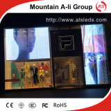 Écran polychrome extérieur de rideau en grille de la vente P15.625 LED d'usine