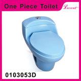 Cabinet d'aisance d'une seule pièce de vente de grès de forme ronde de cycle de salle de toilette chaude d'éclat