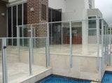 Aangemaakt Glas voor het Traliewerk van het Balkon van het Glas