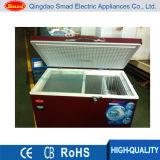 Congelador contínuo da caixa da porta da cor vermelha (BD 255)